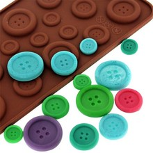 Free shipping Cake Cookie Fondant Chocolate Silicone Mold Baking Tray Button Shape Cake Decoration tools A009