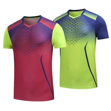 New men/women badminton t-shirt clothes,polyester breathable table tennis jerseys,quickly-dry short sleeves ping pong shirts
