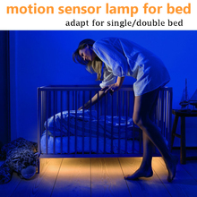 Human Body Motion Sensor Bed Light PIR LED Flex Strip For stair Warm White with Automatic Shut Off Timer Bedside Night Light