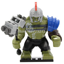 Rome Hulk Marvel Super Heroes Avengers GREEN HULK 7cm High The Amazing Action Building Block Sets Model Bricks