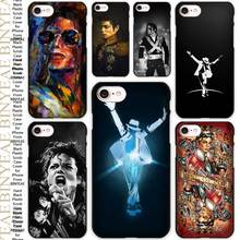 Michael Jackson forever Black Scrub Case Cover Shell for iPhone Apple 4 4s 5 5s SE 5c 6 6s 7 Plus