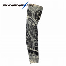 Cool Tattoo Sleeve Arm Warmer Long Cuff Ice Arm Sleeve UV Protection Arm Guard Cycling Riding Arm Sunshade Tattoo Glove(China)