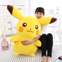 2016 new manufacturers selling genuine large pet plush toy doll Pikachu elf couple