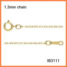 IB3111 Fashion gold filled Chains Necklace For Women 16/18inch Thin Flat Cable Chain Chain high quality 1pieces/lot