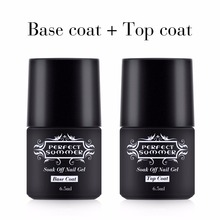 Perfect Summer Nail Gel Polish Top Coat Base Gel High Quality Long Lasting Nail Gel Base Finish Cover LED UV Sake off Gel Polish