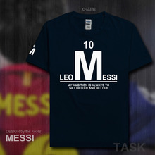 brand cotton Barcelona Lionel Messi Leo Men t-shirt tops Man casual t shirts Plus Size new fashion 2017 Argentina footballer M10(China)