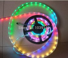 5M BLACK PCB WS2801 led digital strip;32leds/m,WS2801 IC(256 scale,8 bit),32pcs 5050 RGB leds/m,waterproof IP67,DC5V input