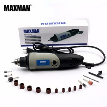110V American Standard Plug MAXMAN Electric Mini Die Grinder Variable Speed Rotary Tool Multifunctional DIY Multi Power Tools