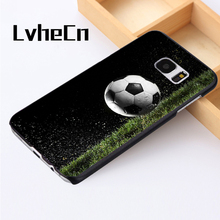 LvheCn phone case cover For Samsung Galaxy S3 S4 S5 mini S6 S7 S8 edge plus Note2 3 4 5 7 8 Football Ball Soccer Sport Hobby