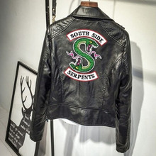 2018 Riverdale Southside Serpents Weibliche Mäntel Drucken Punk Leder Harley Lokomotive zipper Jacken Für Frauen Hip-Hop Streetwear(China)