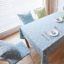 British Simple Embroidered Table Cloth Cotton Fabric Tablecloths Embroidery Table Cloth Round Wedding Decoration Table