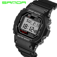 2017 New Sanda Lovers Sports Digital Wristwatch Military Teenager Student Boy Girl Fashion Outdoor Sporting Hours Relojes Mujer(China)