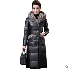 Leather garment Sheepskin coat Women Down jacket Large size High-grade Imitated mink fur collar Sheepskin Winter coat BN1825(China)