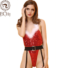 Buy Leechee Y117 women sexy lingerie christmas uniforms conjoined+belt cosplay sexo temptation erotic underwear porn costumes