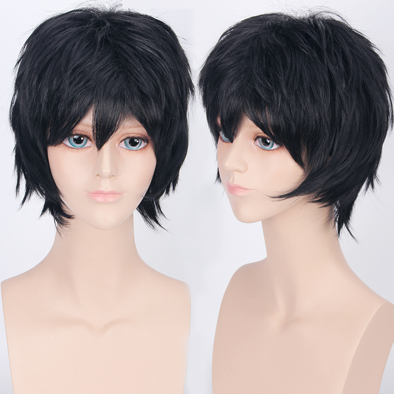 Coshome Naruto One Piece Fairy Tail Bleach Yato Cosplay Short Wig For Men Women Black Brown Yellow Red Blue Wigs (4)