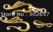 FREE SHIPPING 90sets Antiqued gold unique hook toggle clasps A1157G(China)