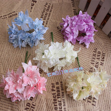 6PCS Special offer direct selling wholesale wedding decoration cherry blossom multicolor flower simulation Other optional wreath(China)