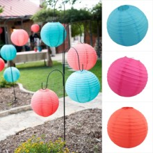 Round Chinese Paper Lantern lamp Lights ball 20cm 25cm 30cm Wedding Home Party decoration Baby Shower Favors Supplies mint