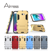 Airress TPU/PC 2in1 Armor Rugged Protective Kickstand Phone Case Cover Skin for Samsung Galaxy A7 (2017)(China)