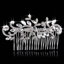 Factory direct bride wedding wedding jewelry comb comb yarn accessories silver crystal alloy crown bride AQ2115