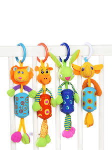 Sozzy Plush Rattles Stroller Crib Hanging-Bell Educational-Toys Gift Animal Mobiles Infant