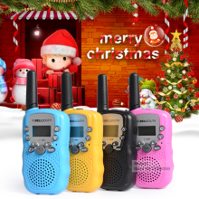 Birthday gift! T388 Children's Walkie Talkies Pair Kids Pink Mini Toy Walkie Talkie For Boy Girls Handheld 2 Way Radio Station(China)