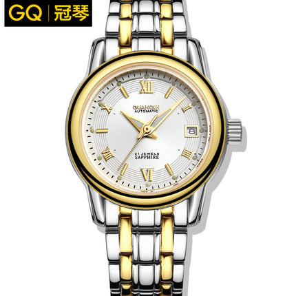 Hot!  Women automatic watch Waterproof Orignal GUANQIN sapphire luminous full steel Ladies wrist watch hours women dress watches<br><br>Aliexpress