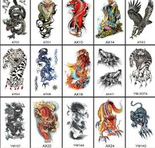 Fashion Large Animal tattoo Sticker Arm  temporary tattoo Stickers for Women Men Waterproof  Sticker tattoo Body Art 1pc