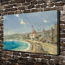 H1210 Thomas Kinkade The Beach at Nice Scenery,HD Canvas Print Home decoration Living Room Bedroom Wall pictures Art painting(China)