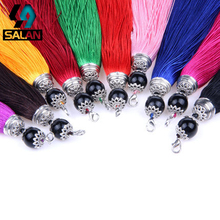 Manufacturers custom gold tassel bag accessories tassel key ring tassel ear DIY car hanging accessories