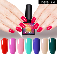 Belle Fille Nail Gel Polish 10ml Wine Red Ink Green Color Nail Polish Gel UV LED Party Makeup Soak Off Gel Nail Polish(China)