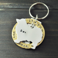 Personalized Samoyed Dog Tag, Pet ID Tags, Hand Stamped Engraved Alloy Samoyed tag, Customized Name & Address, Phone Number