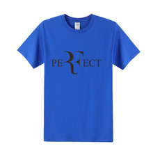New Summer Men T-shirt Roger Federer T Shirt  Casual Streetwear Short Sleeve Cotton Unisex Tees Top OT-019
