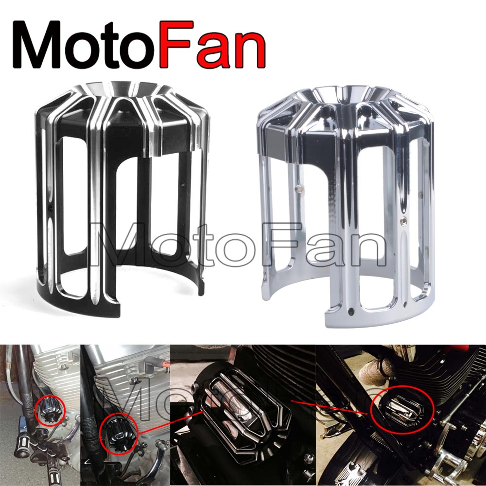 Motorcycle Custom Oil Filter Cover Machine Grid Billet CNC Aluminum for Harley Davidson Motor Parts Sportster 1200 883 FXR dyna<br>