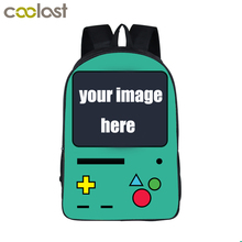 Customize Your Game Bag Anime Pokemon / FNAF Backpack Boys Girls School Bags Kids Backpack Game Over Children Bag