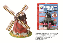 Hot sales jigsaw puzzle Holland pinwheel model 3D puzzle Educational toys three-dimensional puzzles for children and adult(China)