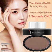 New Arrival Eyebrow Stamp 3D Tattoo Shaping Effect Eyes Makeup Eyebrow Powder Delicate Natural Perfect Make Up Cosmetics