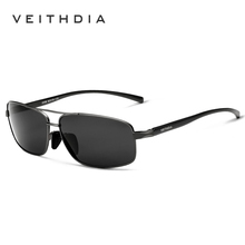 VEITHDIA Brand Polarized Men's Vintage Sunglasses Aluminum Frame Sun Glasses Men Goggle Eyewear Accessories For Men 2458