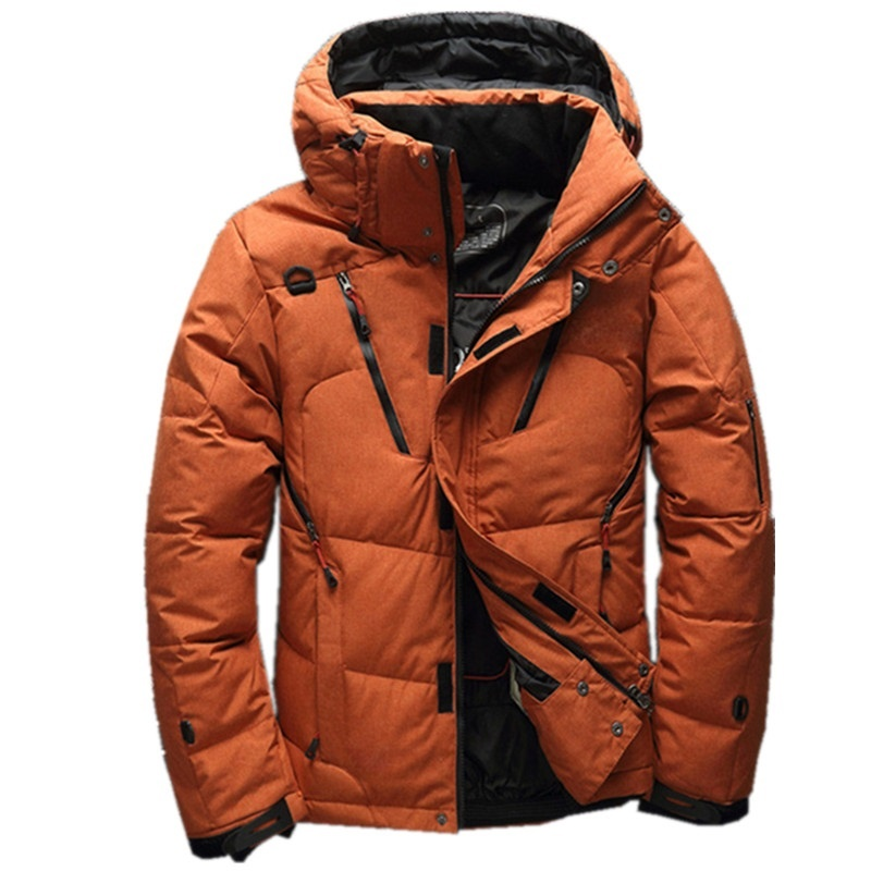 High quality men's winter jacket thick snow parka overcoat white duck down jacket men wind breaker New Fashion brand down coat