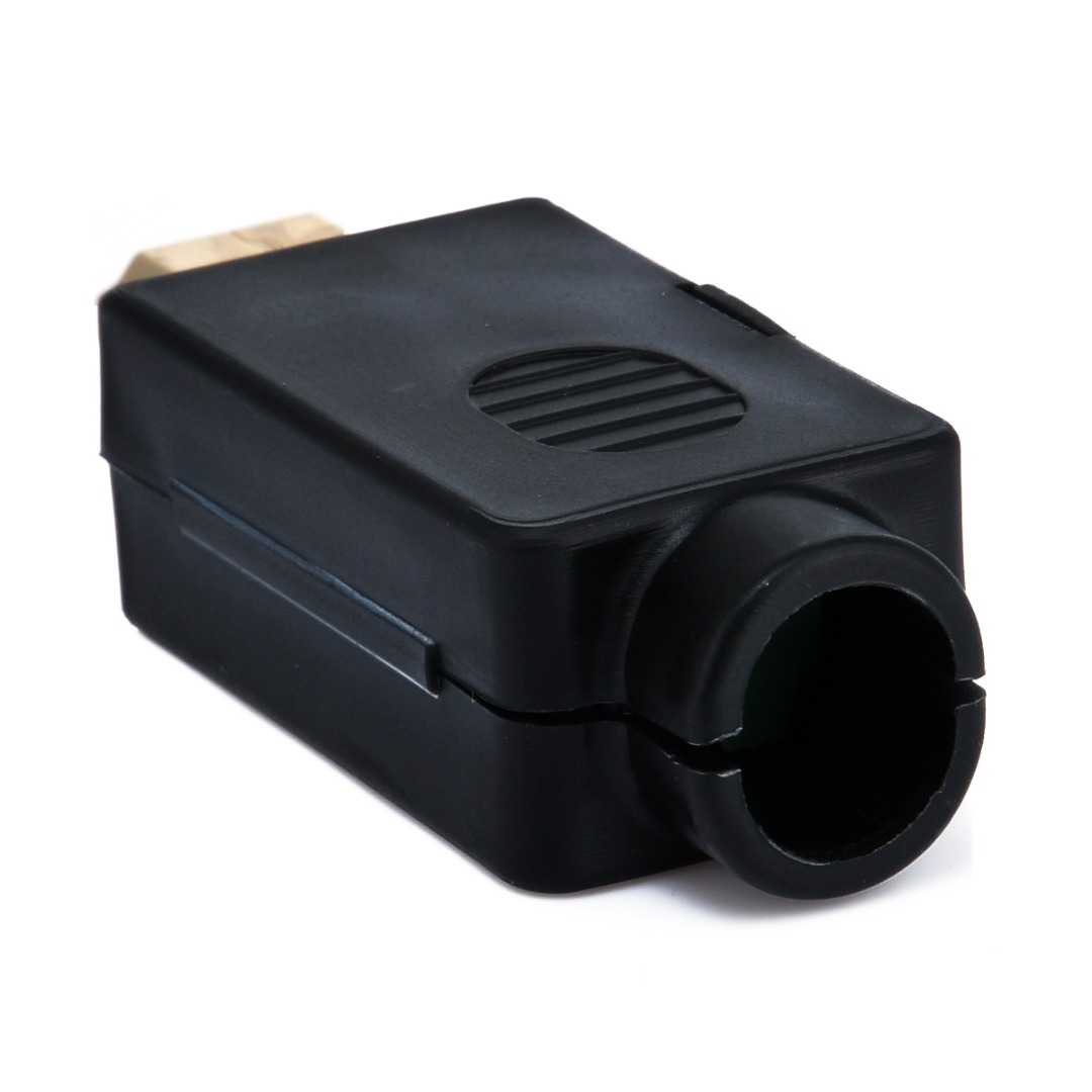 New HDMI Male Plug Terminals Connector With Black Plastic Cover Male 19P Plug Breakout Board Terminals Solderless Connector