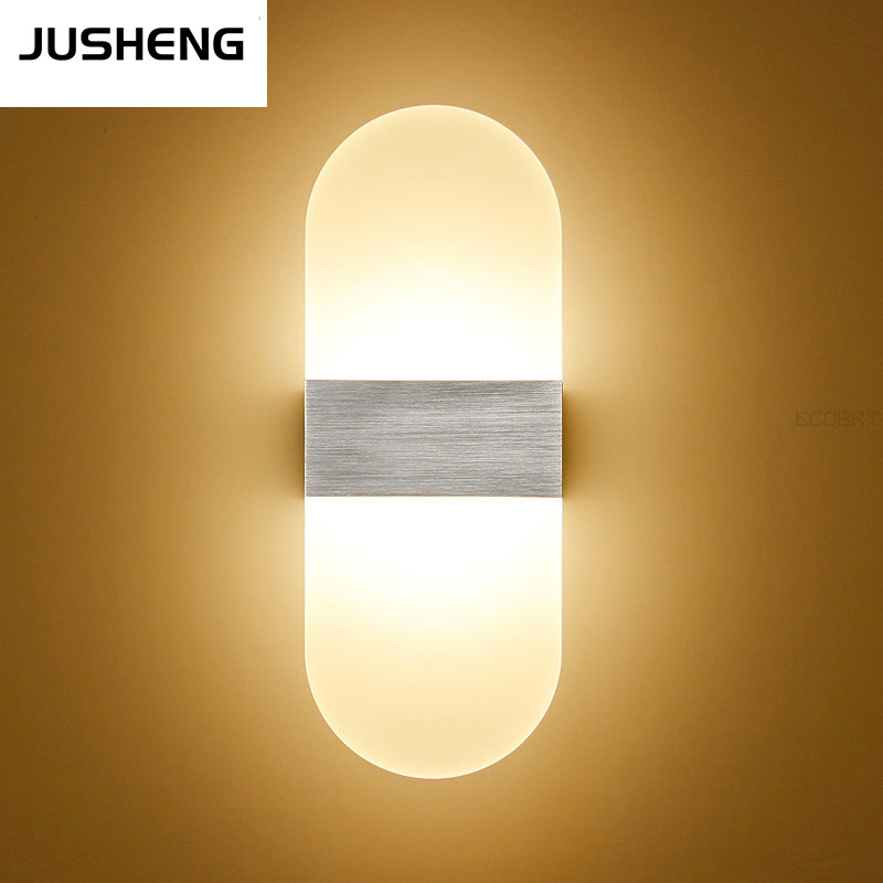 Round Aluminum Led indoor wall lights 6W Surface Mounting Decoration Sconces Wall Lighting Fixtures Silver/Black /Golden Lamps<br><br>Aliexpress