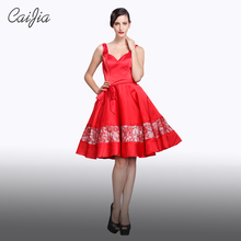 Caijia Fashion Design Braces Backless Ball Gown Cocktail Dresses(China)
