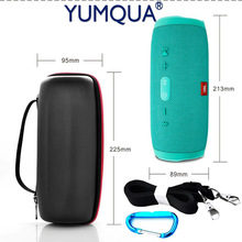 YUMQUA Flip Case For JBL Charge 3 Portable Bag Zipper Holder With Carry Belt Charge3 Bluetooth Speaker Ourdorr Travel Case Cover(China)