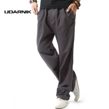 Men Drawstring Linen Trousers Summer Pants Straight Leg Loose Sweatpants Casual Bottoms Wear Size M-3XL 045-971(China)