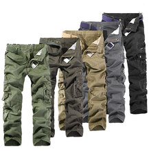 Mens Work Slacks Pants Casual Pants Boy Student Military Army Cargo Trousers Work Solid Multi pockets Trousers 016(China)