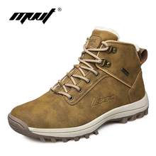 High quality handmade men's hiking shoes autumn and winter outdoor -26 warm lining climbing boots winter snow boots