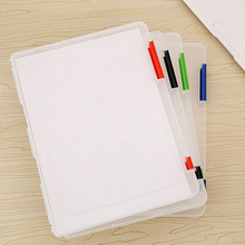 1pc Pratical Plastic A4 Files Document Case Storage Box Holder Office School Organizer 307x232x20mm(China)
