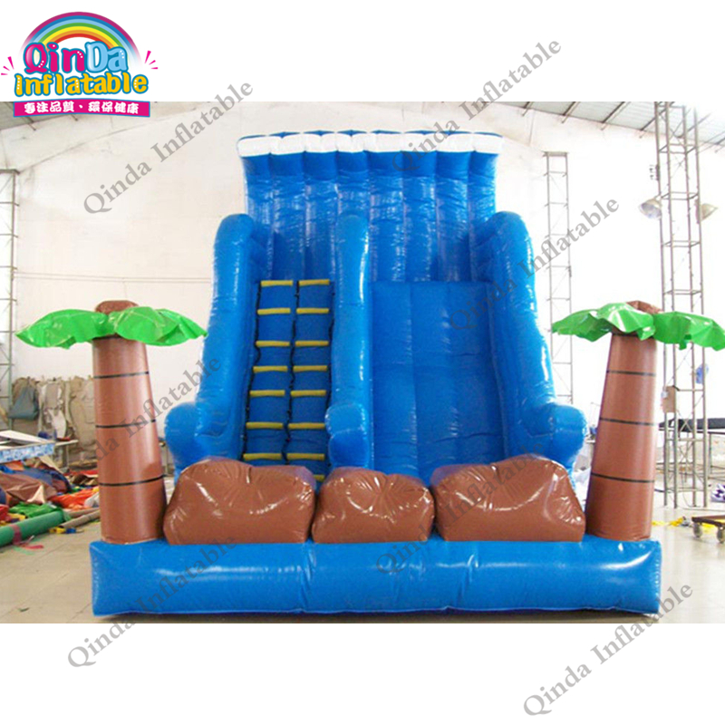 inflatable water slide with pool135