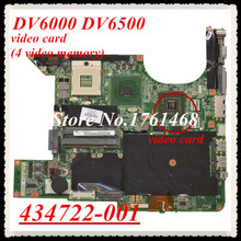 434722-001 For HP DV6000 DV6500 Laptop motherboard mainboard  Discrete graphics 100% Tested Free Shipping