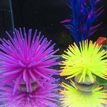 Artificial Coral Plant Underwater Ornament Decor 2017 New 2 Sizes Silicone Aquarium Fish Tank Send As Random(China)